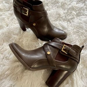 Tommy Hilfiger - Brown Ankle Boots with Heels